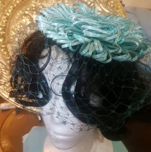 Vintage hat with netting Circa 1950s
